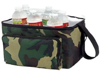 OEM Design Nylon Material Insulated Wine Cooler Bag Double Deck Cooler Bag